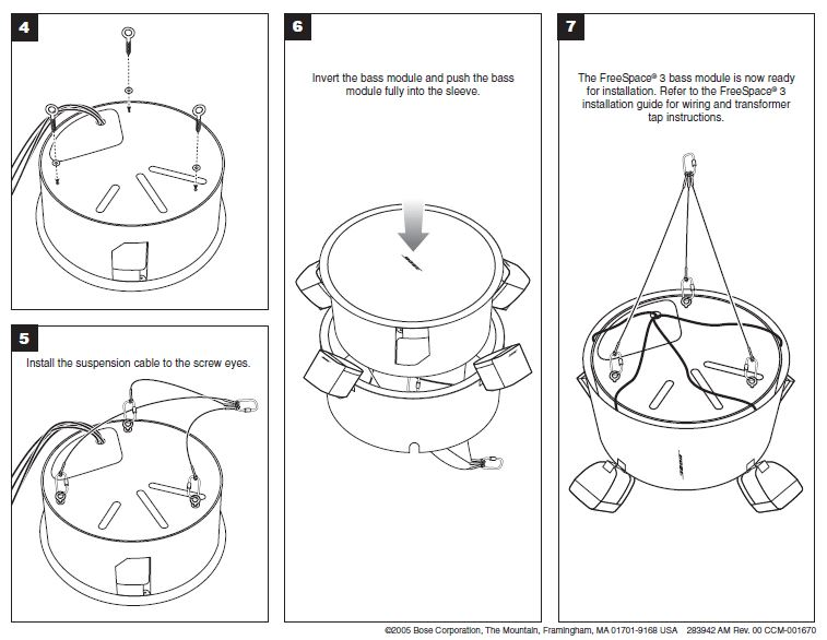 Bose Freespace 174 3 Pendant Speakers System Audio Visual