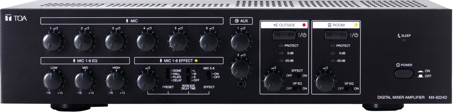 Toa Mx 6224d Digital Mixer Amplifier Audio Visual