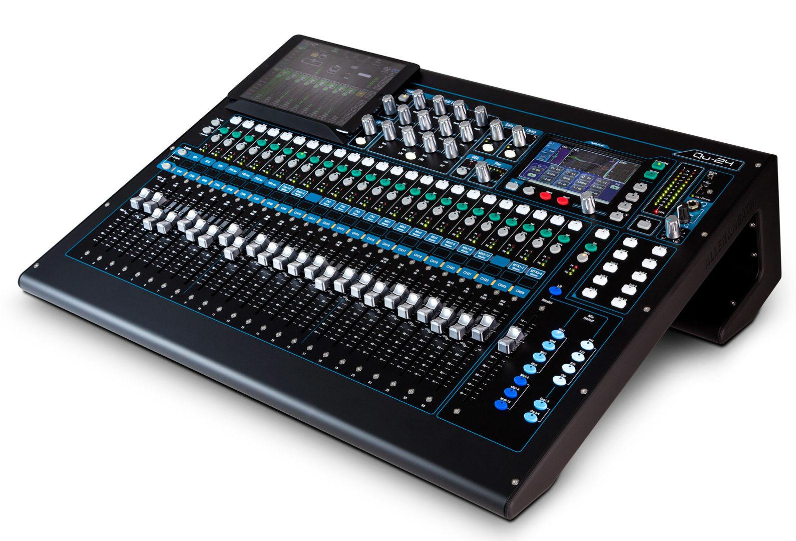 allen heath qu 24 digital mixer audio visual specialists. Black Bedroom Furniture Sets. Home Design Ideas